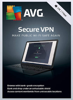 AVG Secure VPN Membresia 1 Año Gift Card - Chilecodigos