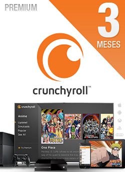 3 Meses Membresia Crunchyroll Premium Gift Card Chile - Chilecodigos
