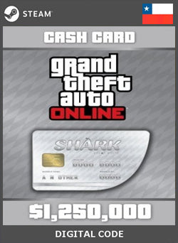 Grand Theft Auto Online Great White Shark Cash Card $1.250.000 GLOBAL STEAM, GIFTCARDS, STEAM - Chilecodigos