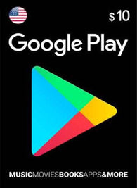 Google Play $10 USD, GIFTCARDS, GOOGLE PLAY - Chilecodigos