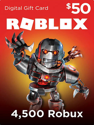 Roblox 4500 Robux Gift Card Global - Chilecodigos