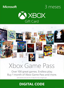 3 Meses Membresia Xbox Game Pass Gift Card CHILE - Chilecodigos