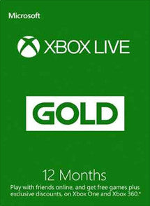 12 Meses Membresia Xbox Live Gold Gift Card GLOBAL - Chilecodigos