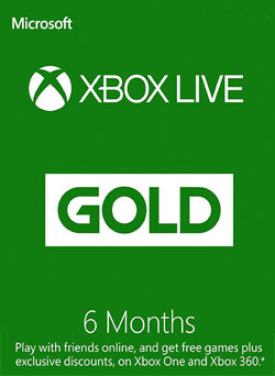 6 Meses Membresia Xbox Live Gold Gift Card GLOBAL - Chilecodigos
