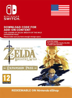 The Legend of Zelda Breath of the Wild Expansion Pass Nintendo Switch, DLC, NINTENDO - Chilecodigos