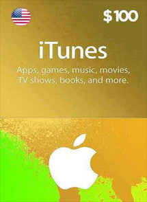 iTunes $100 USD, GIFTCARDS, ITUNES - Chilecodigos