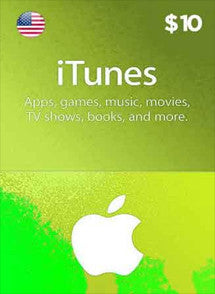 iTunes $10 USD, GIFTCARDS, ITUNES - Chilecodigos