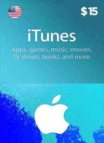iTunes $15 USD, GIFTCARDS, ITUNES - Chilecodigos
