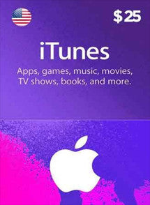 iTunes $25 USD, GIFTCARDS, ITUNES - Chilecodigos