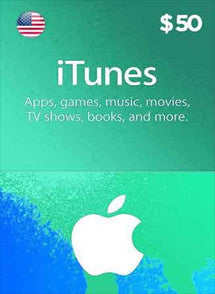 iTunes $50 USD, GIFTCARDS, ITUNES - Chilecodigos