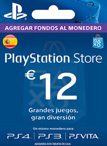 $12 EUR PlayStation Gift Card PSN ESPAÑA - Chilecodigos
