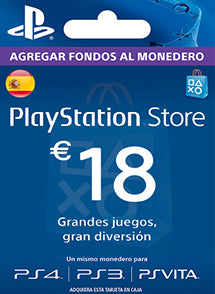 $18 EUR PlayStation Gift Card PSN ESPAÑA - Chilecodigos