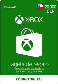 $20.000 CLP Xbox Live Gift Card CHILE - Chilecodigos