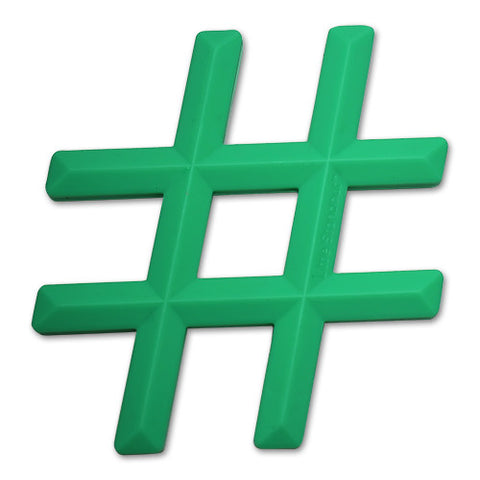 Silicone Hashtag Teether