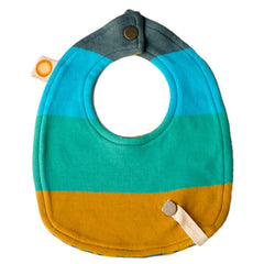 Organic Bamboo and Cotton Blend Teething Bib with Snap Leash