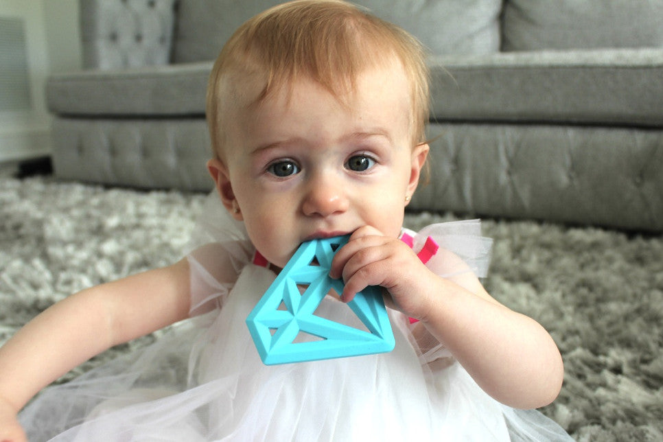Blue Silicone Diamond Teether
