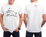 Year of the BOAR (Pig) Hi-NRG Black & White COMBO T-SHIRT & MUG