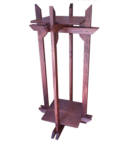 "Plant Stand, Tranquility Stand all-wood multi-use stand 12"" square platforms for Plants, Terrariums and Aquarium Bowls"
