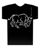 Year of the Ox Black t-shirt Hi-NRG Design. Birth Years: 1937, 49, 61, 73, 85, 97, 2009