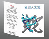 Year of the Snake Greeting Cards (2pk or 12pk) Birth Years: 1929, 1941, 1953, 1965, 1977, 1989, 2001, 2013