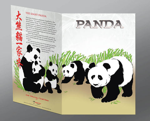 Panda Greeting Cards, Giant Panda (2pk or 12pk)
