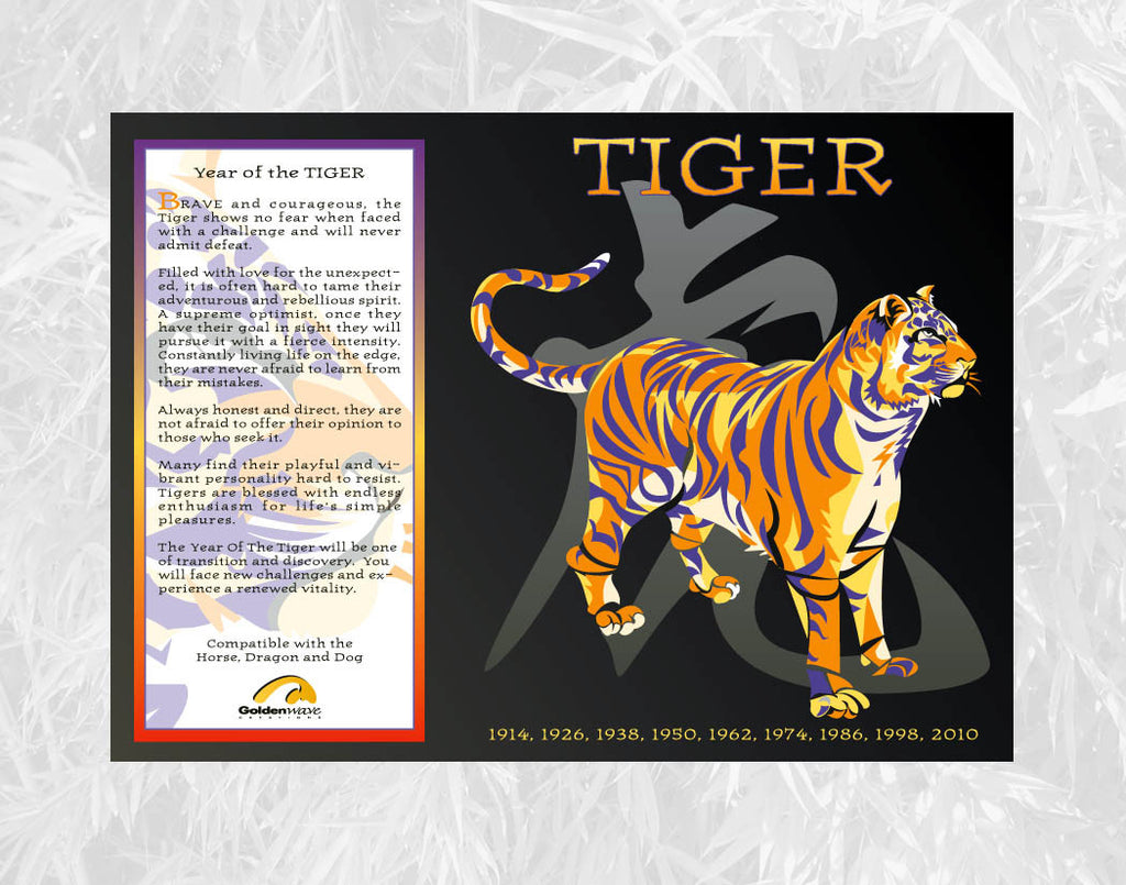 year of the tiger individual poster birth years 1926 1938 1950 1962 - Chinese New Year 1962