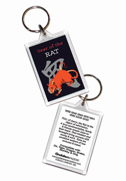 Year of the RAT Chinese Oriental Zodiac 6 pc  COMBO GIFT SET