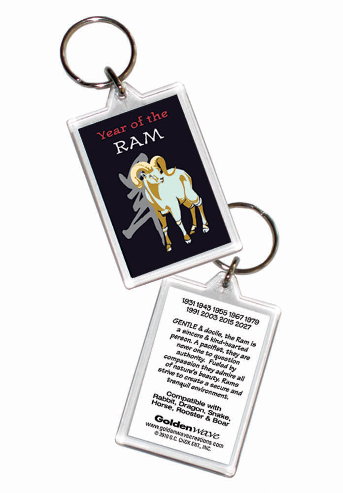 Year of the Ram Keyring Birth Years: 1931, 43, 55, 67, 79, 91, 03, 2015