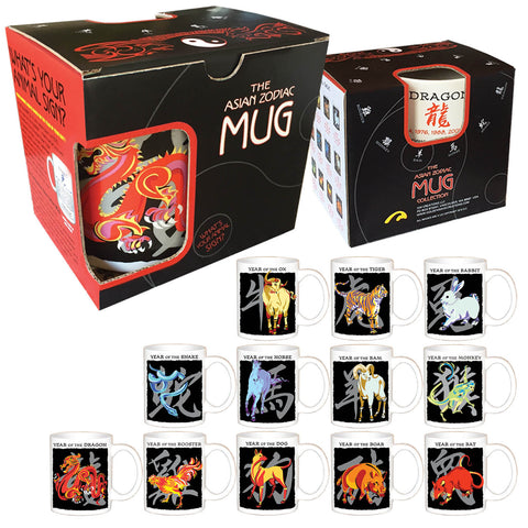 2017 Chinese New Year Special Set of 12 Boxed Mugs (one of each animal or the same animal)