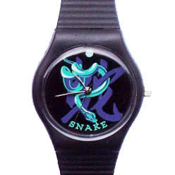Year of the Snake novelty wrist watch Birth Years: 1929, 41, 53, 65, 77, 89, 01, 2013