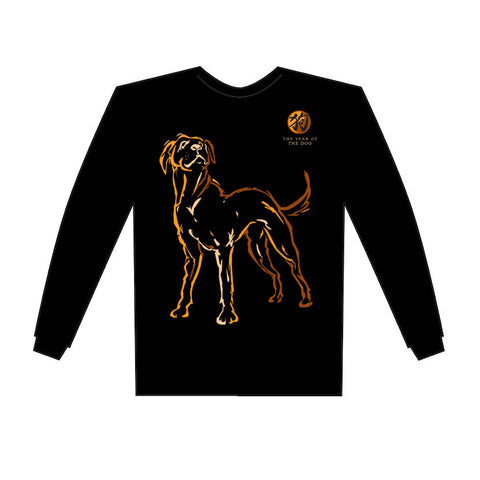2018 Year of the Dog Long Sl. T-Shirt Birth Years: 1934, 46, 58, 70, 82, 94, 2006, 2018