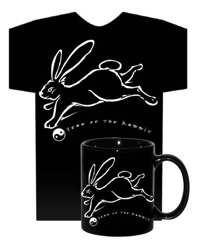 2011 Chinese New Year of the RABBIT Black 2 pc. COMBO GIFT SET