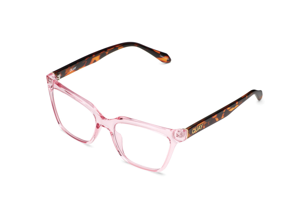 BLUSH TORTOISE/CLEAR RX