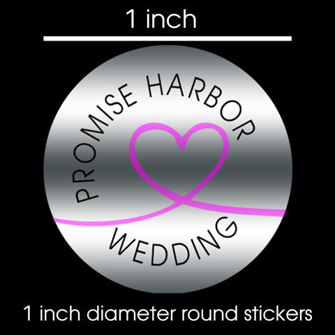 "Round Promotional Stickers 1"" / 150ct"
