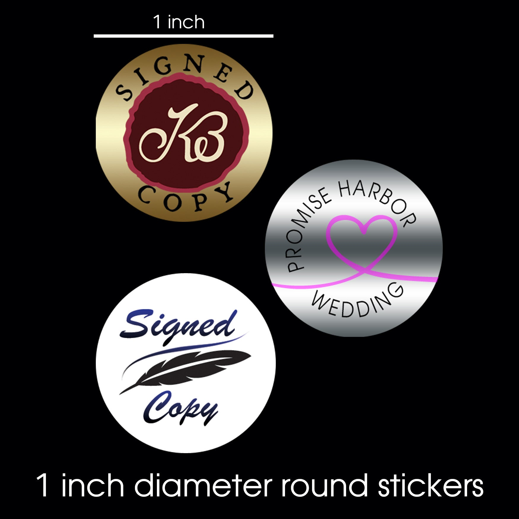 Round promotional stickers 1 150ct
