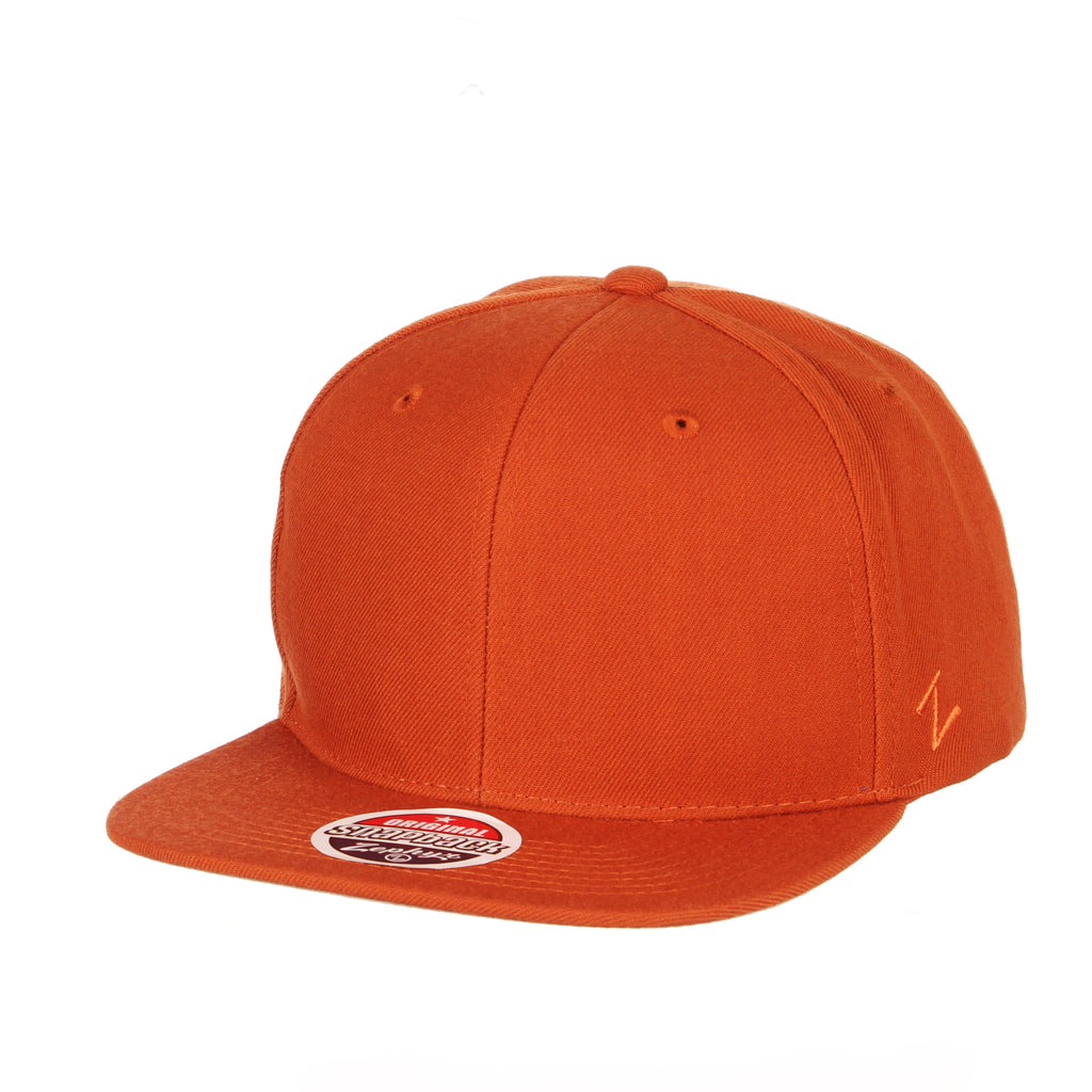 Blank Burnt Orange Z11 Snapback