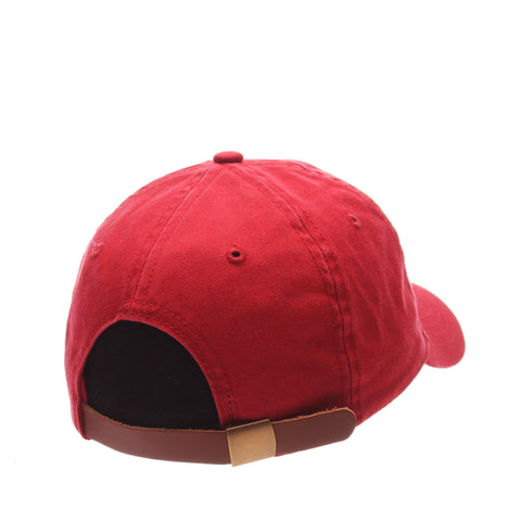 Dad Hat (BBQ PIG) Red Washed Adjustable hats by Zephyr