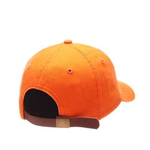 Dad Hat (BLACK CAT) Orange Light Washed Adjustable hats by Zephyr