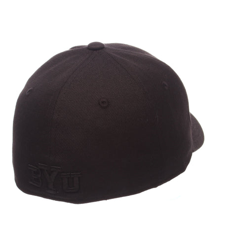 Brigham Young University DH Standard (Low) (Y OVAL) Black ZClassic Fitted hats by Zephyr