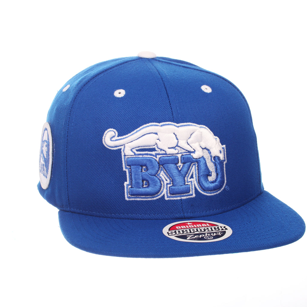 Brigham Young University Custom 32/5 (High) (COUGAR/BYU) Royal Surf ZClassic Adjustable hats by Zephyr
