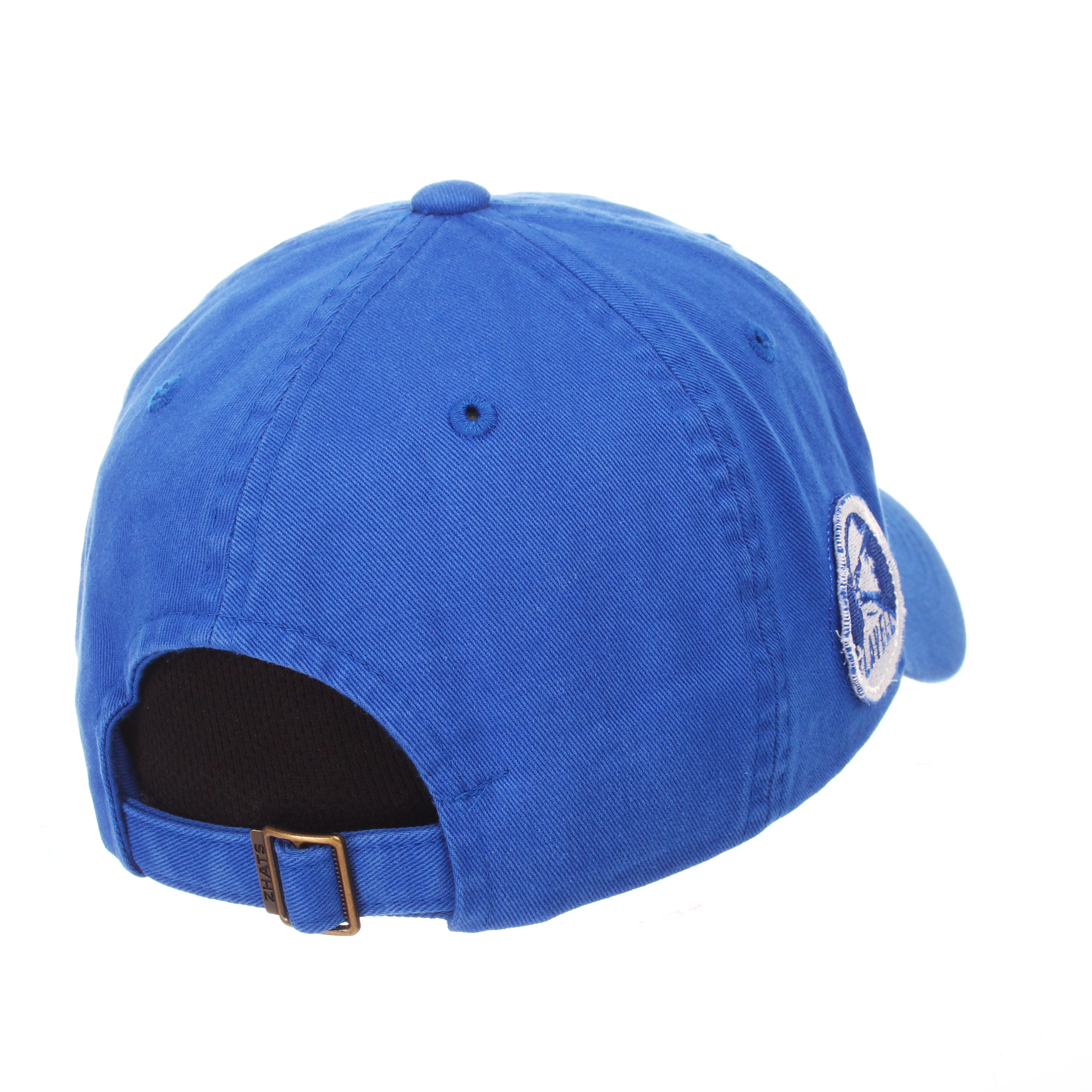Brigham Young University Custom Unstructured (COUGAR/BYU) Royal Surf Washed Adjustable hats by Zephyr
