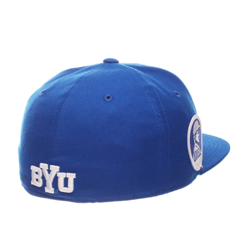 Brigham Young University M15 Mid (Medium) (Y OVAL) Royal Surf Zwool Fitted hats by Zephyr