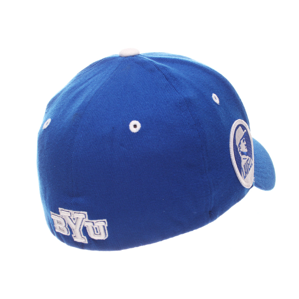 Brigham Young University ZH Standard (Low) (Y OVAL) Royal Surf Zwool Stretch Fit hats by Zephyr