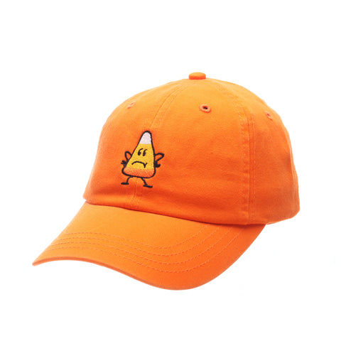 Dad Hat (CANDY CORN) Orange Light Washed Adjustable hats by Zephyr