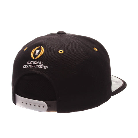 College Football Playoffs Program Custom 32/5 (High) (NATIONAL/CHAMPIONS/PAW) Black Zwool Adjustable hats by Zephyr