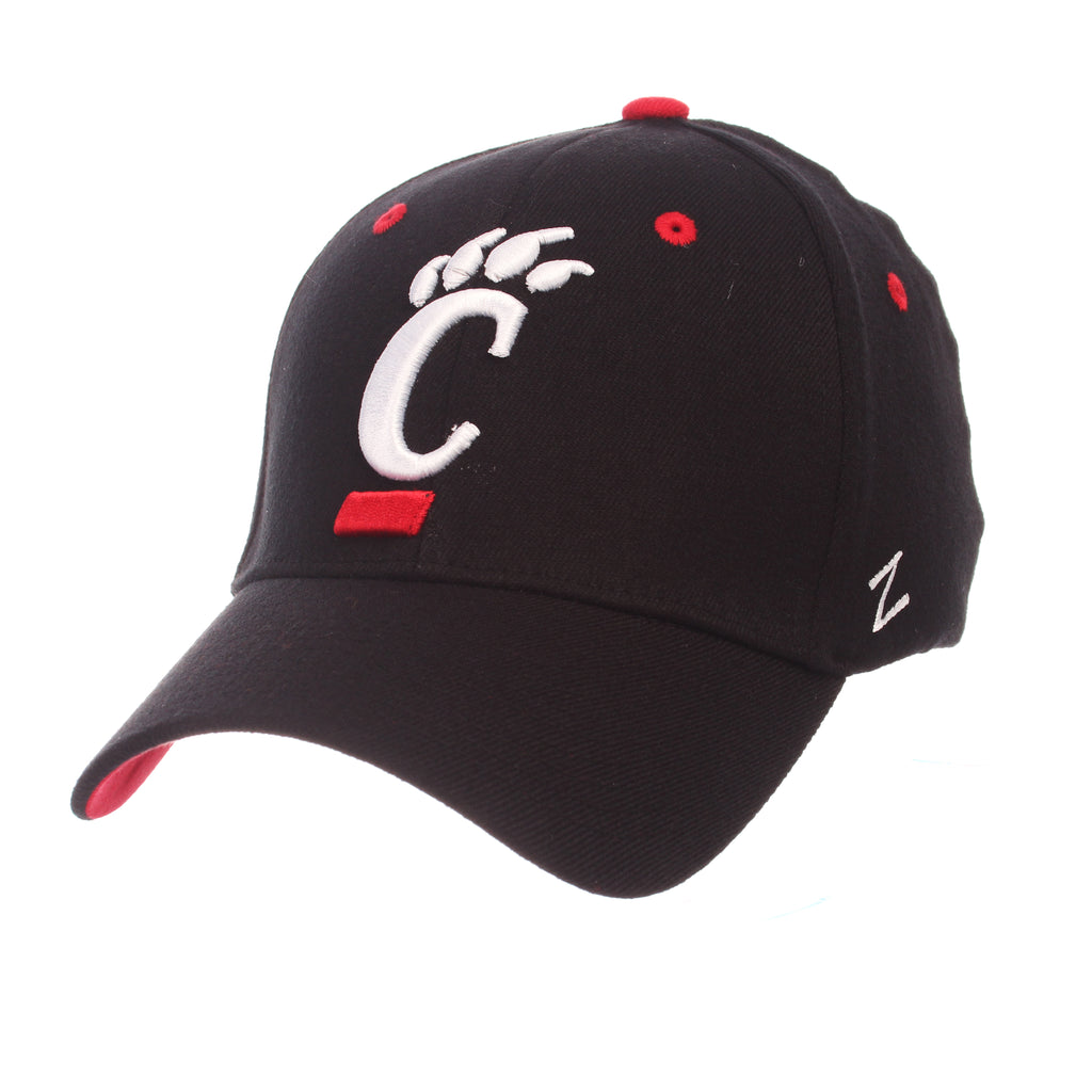 Cincinnati ZH (C PAW) Black Zwool Stretch Fit hats by Zephyr