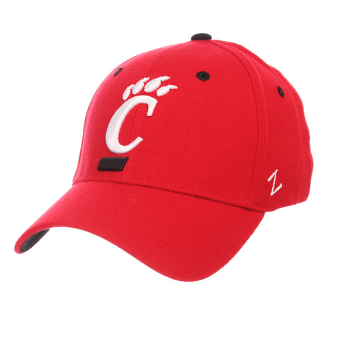 Cincinnati ZH (C PAW) Red Zwool Stretch Fit hats by Zephyr