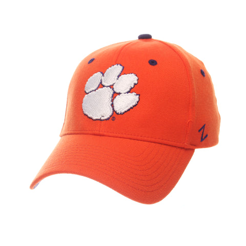 Clemson University ZH (PAW) Orange Zwool Stretch Fit hats by Zephyr