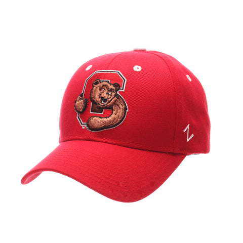 Cornell University Competitor (C W/BEAR) Red Zwool Adjustable hats by Zephyr