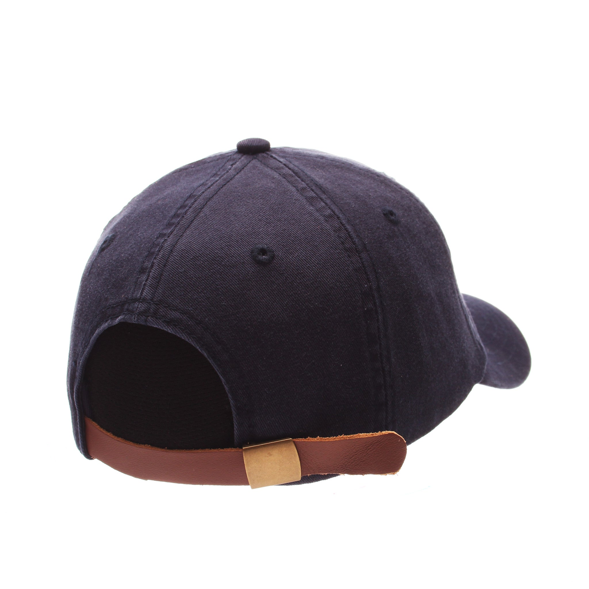 No Royalties Dad Hat (CHOCOLATE DONUT) Navy Dark Washed Adjustable hats by Zephyr